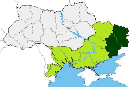 carte donbass